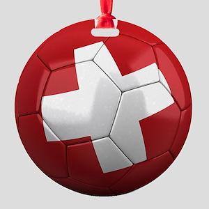 switzerland round Round Ornament