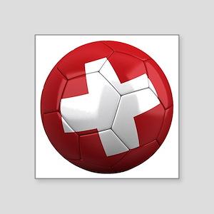 """switzerland round Square Sticker 3"""" x 3"""""""