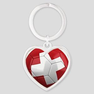 switzerland round Heart Keychain