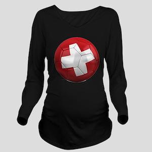 switzerland round Long Sleeve Maternity T-Shirt