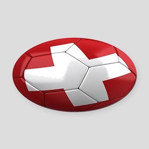 switzerland oval Oval Car Magnet