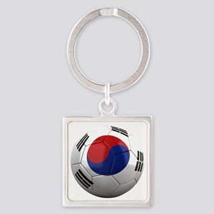 south korea round Square Keychain