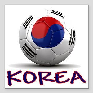 """south korea Square Car Magnet 3"""" x 3"""""""