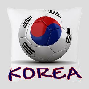 south korea Woven Throw Pillow