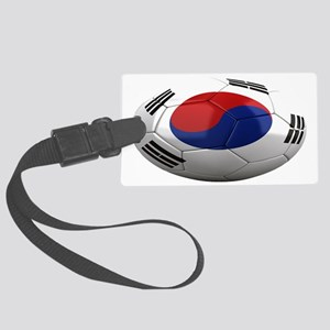 south korea oval Large Luggage Tag