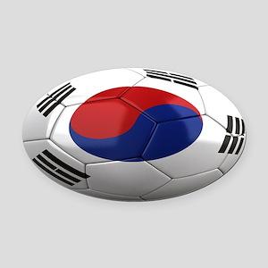 south korea oval Oval Car Magnet