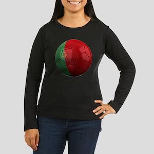 portugal round Women's Long Sleeve Dark T-Shirt