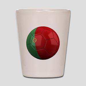 portugal round Shot Glass