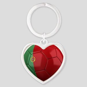 portugal round Heart Keychain