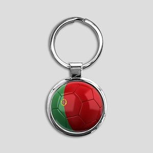 portugal round Round Keychain