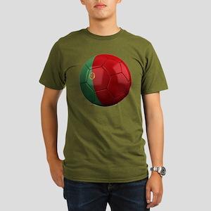 portugal round Organic Men's T-Shirt (dark)
