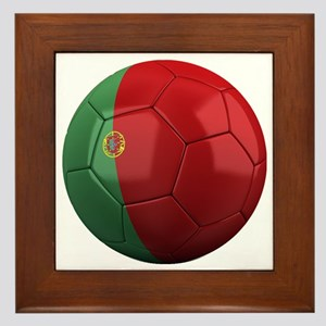 portugal round Framed Tile