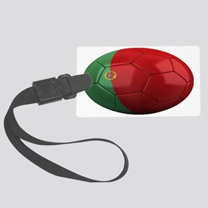 portugal oval Large Luggage Tag