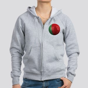 portugal round Women's Zip Hoodie
