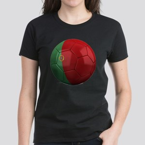 portugal round Women's Dark T-Shirt