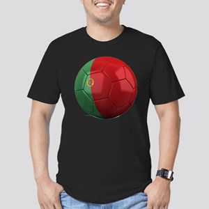 portugal round Men's Fitted T-Shirt (dark)