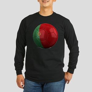 portugal round Long Sleeve Dark T-Shirt