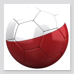 "poland round Square Car Magnet 3"" x 3"""