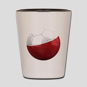 poland round Shot Glass