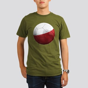 poland round Organic Men's T-Shirt (dark)