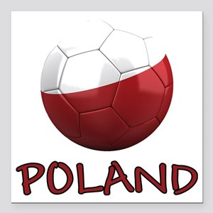 "poland ns Square Car Magnet 3"" x 3"""