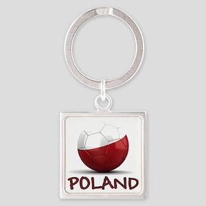 poland Square Keychain