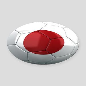 japan oval Oval Car Magnet