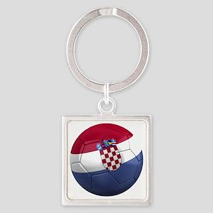 croatia round Square Keychain
