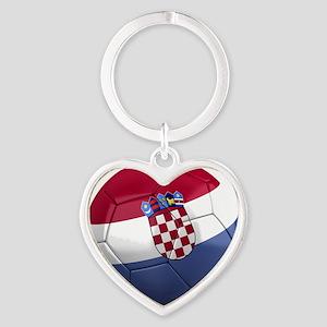 croatia round Heart Keychain