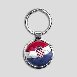 croatia round Round Keychain
