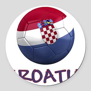 croatia ns Round Car Magnet