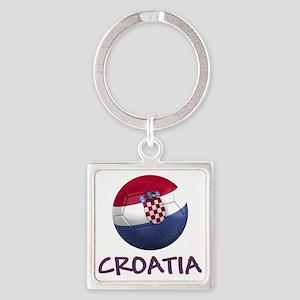 croatia ns Square Keychain