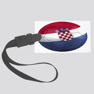 croatia oval Large Luggage Tag