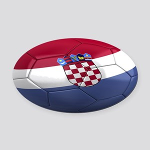 croatia oval Oval Car Magnet
