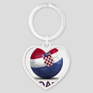 croatia Heart Keychain