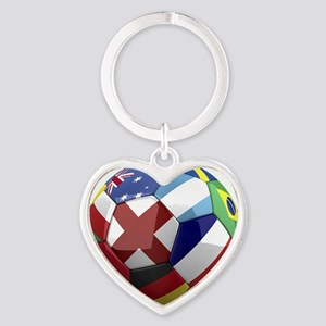 cup fever 1 round Heart Keychain