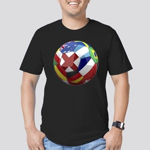 cup fever 1 round Men's Fitted T-Shirt (dark)