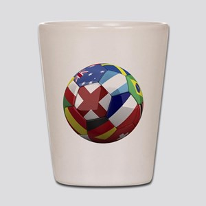 cup fever 1 round Shot Glass