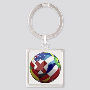 cup fever 1 round Square Keychain