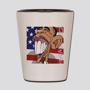 Barack Obama Caricature Cartoon by Henr Shot Glass