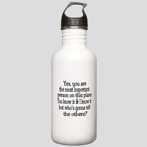 small yes you are button Water Bottle