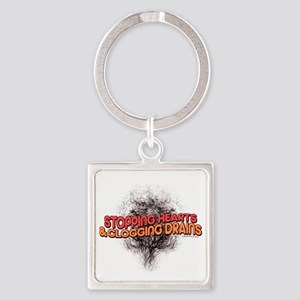 Stopping Hearts Square Keychain