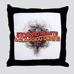 Stopping Hearts Throw Pillow