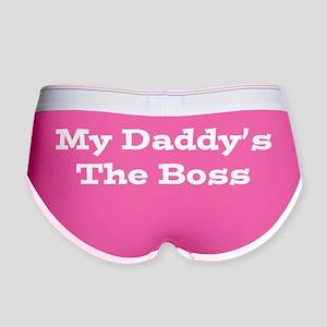 Daddy Boss_White Women's Boy Brief