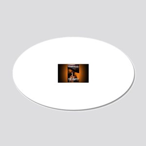 The Empty rect mag 20x12 Oval Wall Decal