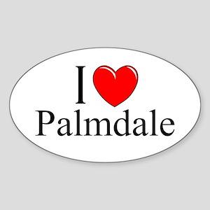 """""""I Love Palmdale"""" Oval Sticker"""