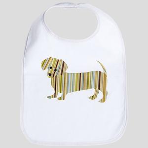 Striped Dachshund Puppy Bib