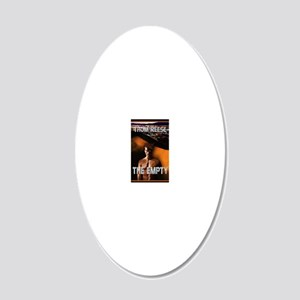 The Empty notecard 20x12 Oval Wall Decal