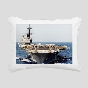 saratoga cv framed panel Rectangular Canvas Pillow