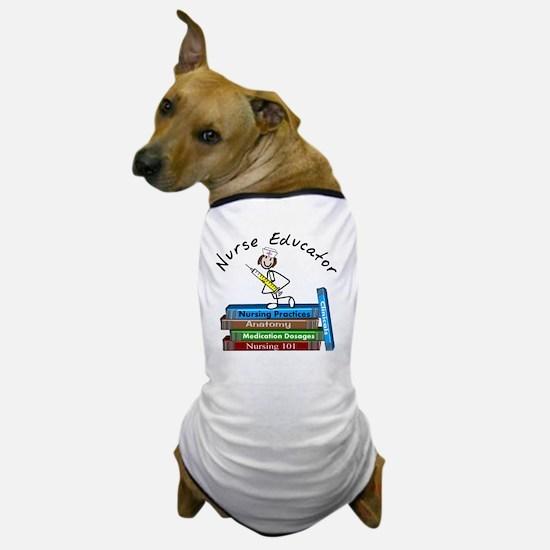 Nurse Educator BOOK STACK Dog T-Shirt